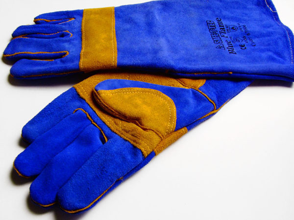 PREMIUM WELDING GLOVE BLUE/GOLD
