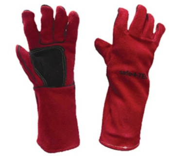 LINED WELDING GLOVE RED/BLACK RIGHT HAND